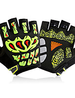 Gloves Cycling/Bike Unisex Fingerless Gloves Anti-skidding / Wearproof / Breathable Summer Green / Red