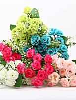 Hi-Q 1Pc Decorative  Real Touch Rose Wedding Home Table Decoration Artificial Flowers