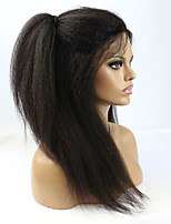 Joywigs Italian Yaki African American Human Hair Full Lace Wigs Glueless Brazilian Virgin Kinky Straight Lace Wigs