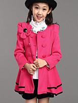 Costume & Blazer Fille de Couleur Pleine Décontracté / Quotidien Coton Hiver / Automne Rose / Rouge