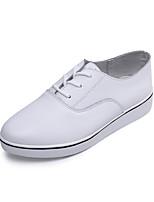 Da donna-Sneakers-Tempo libero / Casual / Sportivo-Comoda-Plateau-Pelle-Nero / Bianco