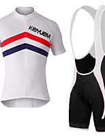 KEIYUEM®Summer Cycling Jersey Short Sleeves + BIB Shorts Ropa Ciclismo Cycling Clothing Suits #K125