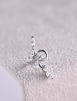Earring Leaf Jewelry Women Fashion Daily / Casual Alloy 1pc Silver