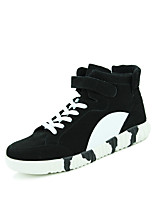 Men's Sneakers Spring / Fall Comfort Fabric Casual Flat Heel Black / Blue / Gray Walking
