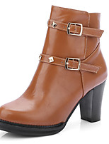 Women's Shoes Fall / Winter Fashion Boots / Bootie / Round Toe Boots Office & Career / Dress / Casual Chunky Heel