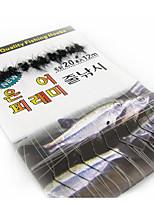 1000 pcs Leurre souple / Mouches Noir 1.8 g/1/18 Once,8 mm/<1