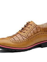 Men's Oxfords Spring /Summer/Fall/Winter Comfort Synthetic Office & Career/ Party & Evening Chunky Heel Black/Brown