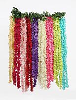 Ornements / Fleur Artificielle(Blanc / Rouge / Rose / Vert / Bleu / Fuchsia / Violet,Polyester)Jardin / Fleuri