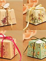 Cajas de regalos(Marfil / Verde / Rosado / Rojo,Papel de tarjeta) -Tema Jardín / Tema Clásico-Matrimonio / Despedida de Soltera / Baby