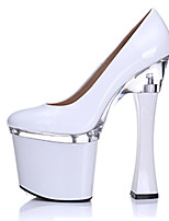 Women's Shoes Patent Leather Spring / Summer / Fall Heels / Platform / Round Toe Heels Party & Evening / Dress