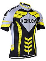 KEIYUEM Cycling Jersey/ Tops Unisex Short Sleeve/ Breathable / Quick Dry / Rain-Proof /Waterproof Zipper#K167
