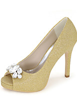 Women's Shoes Glitter Spring / Summer / Fall Peep Toe Sandals Wedding / Party & Evening / Dress
