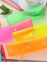 Cute Four-Color Candy Color Transparent Pencil Case Solid Color Fresh Storage Bag