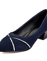 Women's Shoes Fleece Summer / Fall Heels / Pointed Toe Heels Office & Career / Casual Chunky Heel Others Black / Blue /