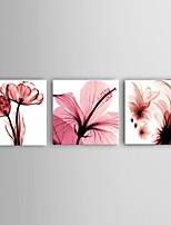 Handpainted Abstract Pink Flower Oil Painting Wall Art Home Office Decor Stretched Frame Ready To Hang