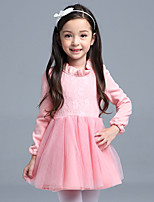 Girl's Cotton Spring/Autumn Lace Party Dresses Long Sleeve Tulle Tutu Dress