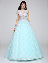 TS Couture®  Formal Evening Dress Ball Gown Scoop Floor-length Lace with Appliques