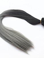 2016 clipe de moda em extensões de cabelo ombre reto longo mergulho cabelo tintura de cabelo sintético dois tons clipe dentro em extensões