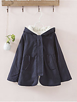 Girl's Casual/Daily Solid Down & Cotton Padded / Suit & Blazer,Cotton Winter Blue / Green