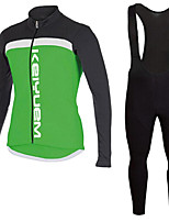 KEIYUEM®Spring/Summer/Autumn Long Sleeve Cycling Jersey+Long Bib Tights Ropa Ciclismo Cycling Clothing Suits #L87