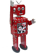 Novelty Toy Puzzle Toy Model & Building Toy  Warrior  Robot Metal Red For Kids