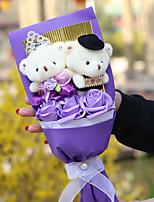 Lovely Bear Flower Cotton Stuffed Toy
