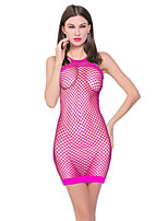 Women's Suits Nightwear,Sexy Solid-Thin Nylon Spandex
