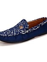 Heren Platte schoenen Lente / Herfst Comfortabel Suède Informeel Platte hak Instappers Zwart / Blauw / Rood Wandelen