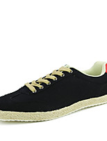 Men's Sneakers Spring / Fall Styles / Round Toe Fabric Casual Flat Heel Others Black / Green / White Sneaker