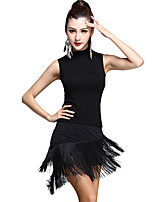 Latin Dance Outfits Women's Training Rayon / Modal Tassel(s) 2 Pieces