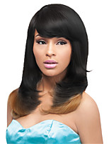 Ombre Color Black blonde Mixed Cosplay Synthetic Wigs Cheap Straight Wigs For Black Women Wigs