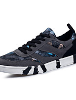 Men's Sneakers Spring / Fall Comfort / Round Toe Fabric Casual Flat Heel  Black / Blue / Gray Running