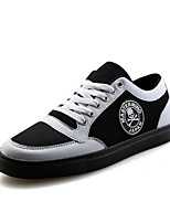Men's Sneakers Spring / Fall Styles / Round Toe Cotton Casual Flat Heel Others Black / Red / Black and White Walking