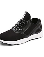 Men's Sneakers Spring / Fall Round Toe PU Outdoor Flat Heel Others / Lace-up Black / Gray Running
