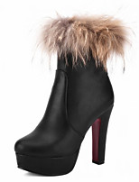 Women's Boots Winter Heels / Platform / Fashion Boots / Bootie / Comfort / Combat Boots / Round ToePatent Leather /