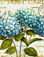 Stretched Canvas Print, Blue Hydrangeas