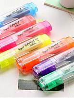 душистые текстовыделитель маркер конфеты цвет флуоресцентный маркер пера (случайный цвет)