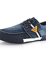 Men's Denim Casual Flat Heel Lace-up Black / Blue Walking EU39-42
