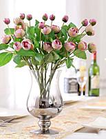 1 1 Филиал Полиэстер / Пластик Камелия Букеты на стол Искусственные Цветы 17.7inch/45cm