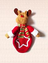 1pc reno del dibujo animado bolsa de dulces de Navidad para Navidad del partido del hogar decoración regalo de los cabritos