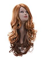 nuevas pelucas naturales para las mujeres peluca rizada rubia sintética de color marrón ombre partido cosplay larga barato