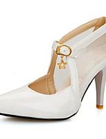 Women's Shoes PU Summer/ Pointed Toe Heels Office & Career / Casual Stiletto Heel Sequin / BucklePink / White / Gold /