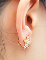 Earring Star Jewelry Women Fashion Daily / Casual Alloy 1 pair Gold