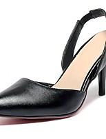 Women's Shoes PU Summer/ Pointed Toe Heels Office & Career / Casual Stiletto Heel Hollow-out Black / Pink / Beige