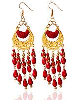 1pair/Red/Blue/Black/White Hoop Earrings forWomen