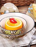 travail bol de soupe de couverts peints à la main un bol en céramique