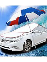 Cars Sewing Sun Shade Umbrellas Larkin Satin Aluminum Cool Cover Car Cover Sunshield Rain Automatic