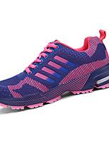 Mujer / Hombre-Tacón Plano-Confort-Zapatillas de deporte-Deporte-Tul-Azul / Negro / Morado / Rojo / Negro y Blanco