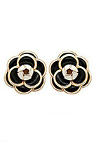 Earring Flower,Jewelry 1 pair Fashionable Alloy Black / White Daily / Casual