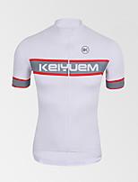 KEIYUEM® Cycling Jersey Women's / Men's / Unisex Short Sleeve BikeWaterproof / Breathable / Quick Dry / Anatomic Design / Rain-Proof /